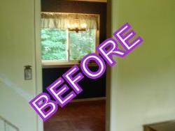 WP doorway and stair rail before