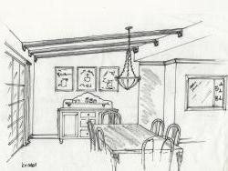 Kitchen concept sketch.