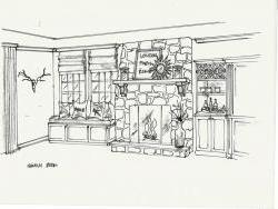 Family room concept sketch
