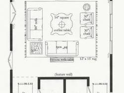 Scaled floor plan design
