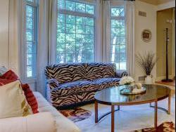 Living room total makeover of all furnishings, lighting and custom window treatments