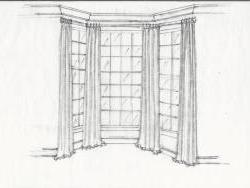 Window treatment concept sketch